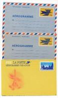 16 Entiers Et Aérogrammes Différents : Logo Jaune, Expérimentaux, Concorde Sur Paris, Bicentenaire, St Exupery,...Neufs - Lots Et Collections : Entiers Et PAP
