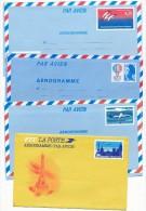 17 Entiers Et Aérogrammes Différents : Expérimentaux Grenoble, Concorde Sur Paris, Bicentenaire, ATR72 ...Neufs - Lots Et Collections : Entiers Et PAP