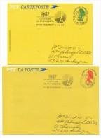 10 Entiers Et Aérogrammes Oblitérés : Transport Par Ballon, Grenoble 1984, Divers... - Postal Stamped Stationery