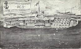 WWI WW1 Sous-marin Allemand Capturé - Guerra 1914-18