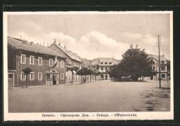 AK Cetinje / Cettigne, Offiziersheim Von Der Strasse Gesehen - Montenegro