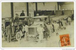 18 VIERZON CARTE PHOTO TRAIN RENARD MANOEUVRES DU CENTRE 1908