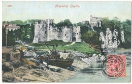 CHEPSTOW Castle Shipwreck Colour Postcard 1912 - Monmouthshire
