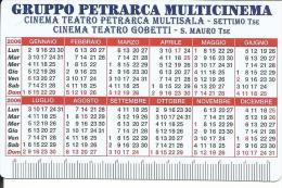 CAL678 - CALENDARIETTO 2006 - GRUPPO PETRARCA MULTICINEMA - Calendarios