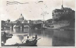 [DC5785] CARTOLINA - ROMA CASTEL SANT'ANGELO E SAN PIETRO - Viaggiata 1923 - Old Postcar - Castel Sant'Angelo
