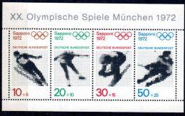 1972, Jeux Olympiques D'hiver à Sapporo, YT Bloc 5, Neuf **, Lot 42411 - Blocks & Sheetlets
