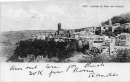 Nemi:panorama Del Paese E Dal Convento - Viterbo