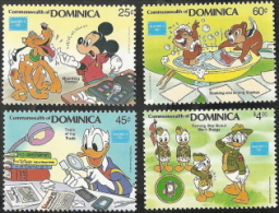 Dominica,  Scott 2015 # 954-957, Issued 1986,  Set Of 4  MNH,  Cat $ 6.95,  Disney - Dominica (1978-...)