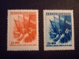 CZECHOSLOVAKIA      1952   EU PEACE CONGRESS   MICHEL 774-75    MNH**     (045000-NVT) - European Ideas