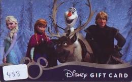 DISNEY * GIFT CARD * DISNEYLAND ORLANDO USA (488) DISNEY RESORT * CINEMA * FILM * MOVIE - Disney