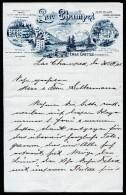 A2919) Briefbogen Mit Werbedruck Lac Champex 1905