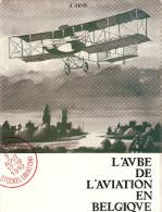 AUBE AVIATION BELGE TOUR BELGIQUE AEROPLANE PIONNIER PILOTE MEETING AERONAUTIQUE VOL