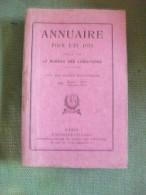 Annuaire Année 1934 Bureau Des Longitudes Calendrier Ciel Soleil Sciences Astronomie - Astronomie