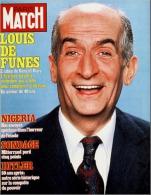PARIS MATCH N° 1759 - La Mort De Louis De Funès - 11 Février 1983 - General Issues