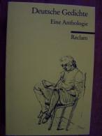 DEUTSCHE GEDICHTE EINE ANTHOLOGIE RECLAM EN ALLEMAND Taschenbuch 1988 - Livres, BD, Revues