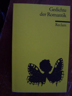 GEDICHTE DER ROMANTIK  RECLAM EN ALLEMAND Taschenbuch 1989 - Livres, BD, Revues