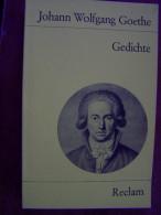 JOHANN WOLFGANG GOETHE GEDICHTE 1987 RECLAM Taschenbuch - Livres, BD, Revues