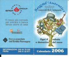 CAL709 - CALENDARIETTO 2006 - CONSORZIO FIERA ANTIQUARIA - MODENA