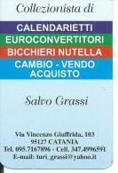 CAL711 - CALENDARIETTO 2006 - SALVO GRASSI COLLEZIONISTA - CATANIA