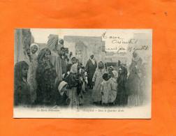 MAROC  ORIENTAL  OUJDA   1910  DANS LE QUARTIER  ARABE   CIRC OUI    EDITEUR - Marocco