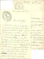 1893 - LYCÉE HENRI IV - BAZAR IV - 2 Lettres D´un étudiant Revendicateur - Historische Dokumente