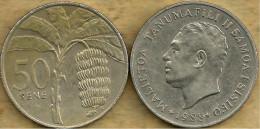 SAMOA 50 SENE PALM TREE BANANA FOOD FRONT MAN HEAD BACK 1988 VF KM? READ DESCRIPTION CAREFULLY !!!