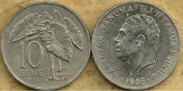 SAMOA 10 SENE PALM TREE FRONT MAN HEAD BACK 1993 VF+ KM? READ DESCRIPTION CAREFULLY !!!