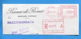 """ITALIA, ITALIEN , FREISTEMPEL,  1975  """"BANCA DI ROMA"""" - Affrancature Meccaniche Rosse (EMA)"""