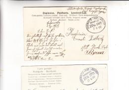 DEUTSCHES REICH - BAHNPOST / TPO / AMBULANT - CHEMNITZ-AUE-ADORF, 2 Belege1906 - Germany