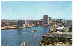 Sydney Skyline, View From The Harbour Bridge, 1964, Stamps - Sydney