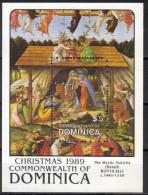 Dominica,Christmas 1989.,block,MNH