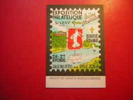 EXPOSITION PHILATELIQUE ET DE LA CARTES POSTALES NOGENT SUR MARNE  1983  600 EXEMPLAIRES NUMEROTES COLORIES A LA MAIN - Nogent Sur Marne