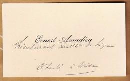 CDV - Amadieu Ernest - Lieutenant Au 114ème De Ligne à Brive - FRANCO DE PORT - Visitenkarten