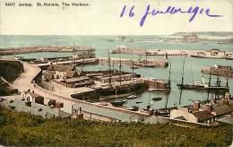 Pays Div- Royaume Uni - United Kingdom -ref D307- Jersey - Saint Helliers -st Helliers - The Harbour - Carte Bon Etat -