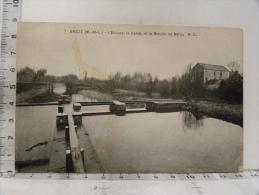 CPA (49) Maine Et Loire - BREZE - L'Ecluse, Le Canal Et Le Moulin De Bafou - France