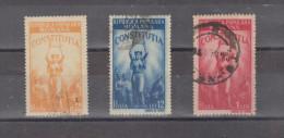 1948 -  CONSTITUTION DE LA REPUBLIQUE  MI No 1118/1120 Et Yv No  1022/1024 - 1948-.... Republics