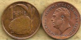 SAMOA 1 SENE FRUIT FRONT MAN HEAD BACK 1974 VF+ KM12 READ DESCRIPTION CAREFULLY !!!