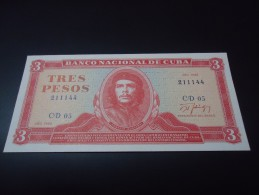 1988 CUBA RARE 3 PESOS * CHE GUEVARA * ( P 107 ) - UNC -