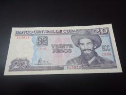 1998 CUBA RARE 20 PESOS ( P 118 ) - aUNC -