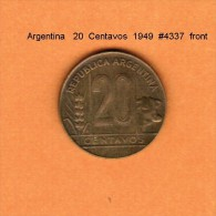 ARGENTINA   20  CENTAVOS  1949  (KM # 42) - Argentina