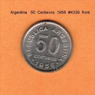 ARGENTINA   50  CENTAVOS  1956  (KM # 49) - Argentina