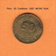 PERU   50  CENTAVOS  1987  (KM # 295) - Peru