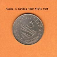 AUSTRIA   5  SCHILLING  1969  (KM # 2889a) - Austria