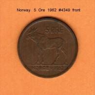NORWAY   5  ORE  1962  (KM # 405) - Norway