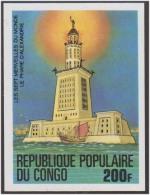 Seven Wonders Of The World, Lighthouse Of Alexandria, Boat MNH IMPERF Congo - Mythologie