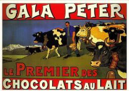 - Chocolat   GALA- PETER  .(2 Scanns) Ma Col. 1995 - Advertising