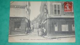 MEUDON - Rue De La Republique Et Rue Langlois - Meudon