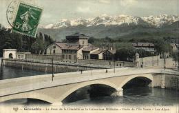 81793 - Grenoble (38) Le Pont De La Citadelle Et Le Colombier Militaire   Porte De L'Ile Verte - Grenoble