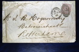Great Britain: SG 138 On Cover, To Rotterdam, Perfin 1878 - 1840-1901 (Victoria)