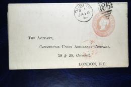Great Britain:  Private Letter Sheet, 1885 From Dublin To London - Postwaardestukken